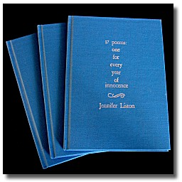 Jennifer Liston's 2nd poetry collection, 17 poems...