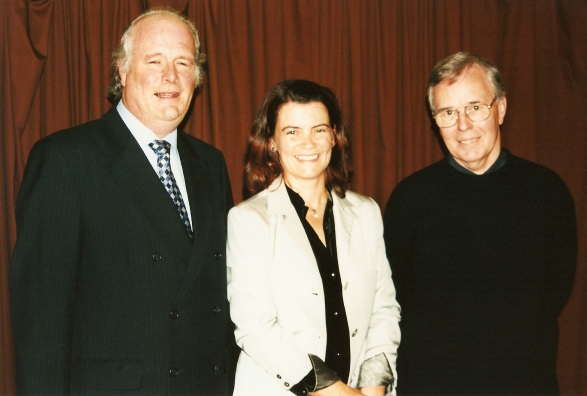 Pictured l-r are: His Excellency, Mr Declan Kelly, Jennifer Liston, and Stephen Matthews (Ginninderra Press)