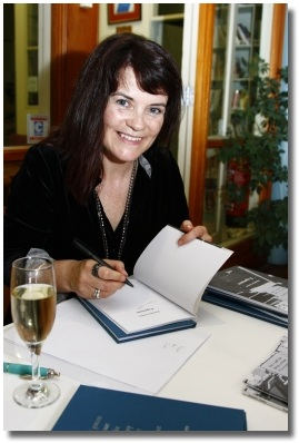 Irish poet Jennifer Liston signs copies of her books